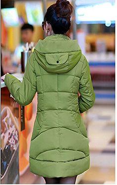 Allbebe Women's Winter Military Long Hoodie Turtleneck Down Jacket Coat Parka