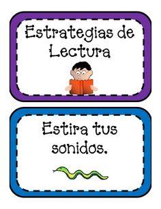 Reading strategies for beginning readers in Spanish.