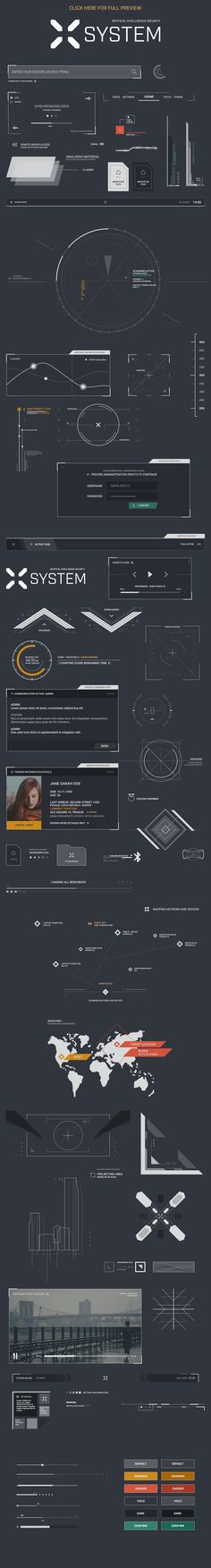 System UI PSD Template by M K GRAPHICS on @creativemarket