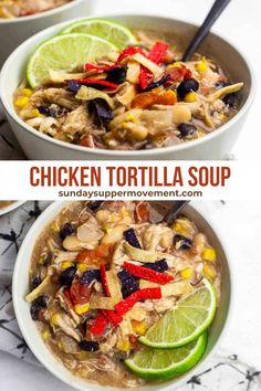 39 reviews · 30 minutes · Serves 4 · I promise, you will want to make it this Chicken Tortilla Soup all of the time - it's just that delicious! #SundaySupper #soup #homemadesoup #souprecipes #chickentortilla #comforting Cheesy Chicken Tortilla Soup, Healthy Chicken Casserole, Easy Soup Recipes, Free Recipes, Dinner Recipes, Slow Cooker Shredded Chicken, Leftover Chicken Recipes, Homemade Soup, Food Dishes