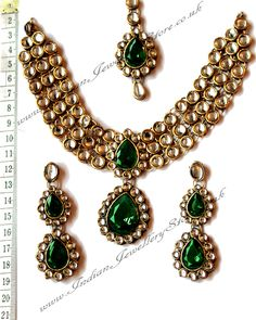 Indian Jewellery Bridal Jewellery Buy Green Gold Sets Nagk0656