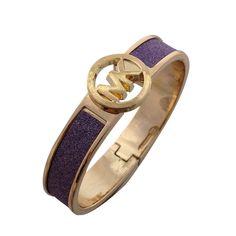 Michael Kors Skinny Logo Purple Accessories Outlet