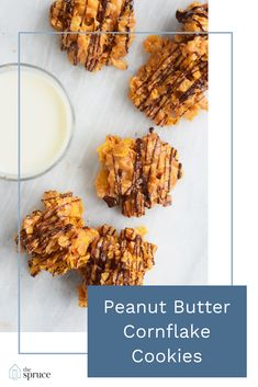 These peanut butter cornflake cookies could not be easier to make. They are full of peanut butter and chocolate flavor, and come together in less than ten minutes. Crunchy, chewy, salty, and sweet.they satisfy every craving. Healthy Cookies, Healthy Desserts, Cornflake Recipes, Upside Down Apple Cake, Cookie Recipes, Dessert Recipes, Cookie Brownie Bars, Ten Minutes, Cookies