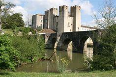 Moulin de Barbaste, XIVe siècle. France / medieval / bridge