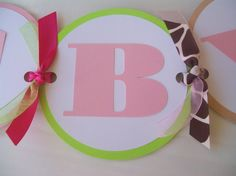 Add a letter-Jungle Jill Baby Shower Name Banner via Etsy - Cute idea - I can make it on my cricut.
