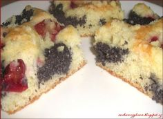 Slovak Recipes, Czech Recipes, Ethnic Recipes, Sweet Recipes, Cake Recipes, Plum Cake, Sweet Cakes, Sushi, Food And Drink