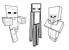 Printable coloring pages - Minecraft (Video Games)