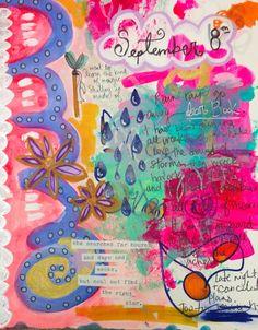 Journal Girl/ art journal inspiration