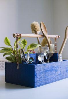 DIY: utensil holder / Faça você mesmo: porta utensílios