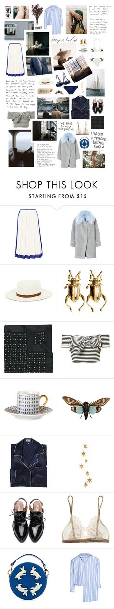 """Taking off in a coupe de ville, she's buckled up on navy"" by bitofbritt ❤ liked on Polyvore featuring Victoria Beckham, Rebecca Taylor, Edit, Dominic Jones, Givenchy, Dirty Pretty Things, Zara Home, me you, Araks and Martha Stewart"