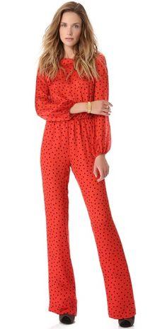 Ashlees Loves: MOSCHINO info @ashleesloves.com #Moschino #Cheap #dot #jumpsuit #women's #designer #fashion #style