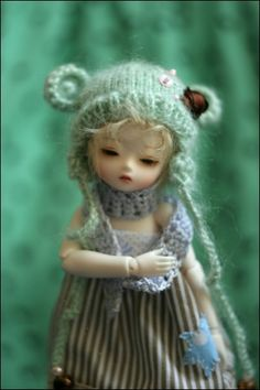 lovely doll with knit hat
