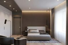 Two options of one bedroom, which one do you like more? on Behance Double Bedroom, One Bedroom, Modern Bedroom, Bed Room, Interior Exterior, Interior Design, Living Room Decor, Bedroom Decor, Master Bedroom Design