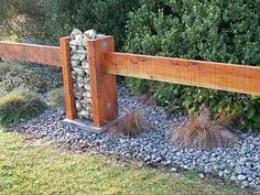 great combination of gabion and fence