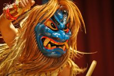 """""""Namahage taiko""""  The main event in the evening is Namahage taiko, which is held at the Oga onsen community center. The taiko performance by Namahage was very powerful!"""