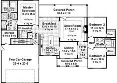 Cottage Country Craftsman House Plan 59027