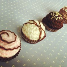 Chocolate truffle magnets
