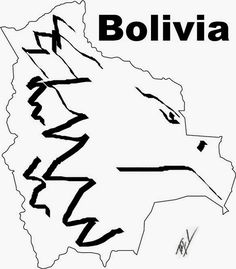 A funny map of Bolivia