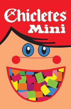 Poster 'Chicletes mini' com moldura