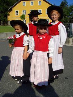 Austria, Carinthia, Gailtal - children in their typical costumes