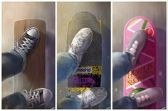 """pixalry: """"Nerd's Eye View: Back to the Future - Created by Andy Fairhurst"""" 80s Movies, Film Movie, Movies Showing, Movies And Tv Shows, Mundo Dos Games, Michael J Fox, Bttf, Ready Player One, Marty Mcfly"""