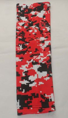 Red black white camo Reds Chicago Bulls baseball basketball shooting compression arm sleeve #armsleeves