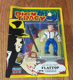 """NIP 1990 DICK TRACY COPPERS & GANGSTERS FLATTOP 5"""" ACTION FIGURE UNPUNCHED CARD #PlaymatesToys"""