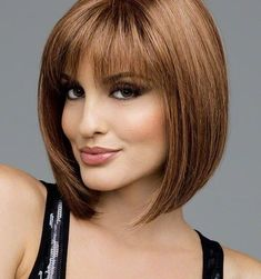 Cheap wig maker, Buy Quality wig hairstyles directly from China women Suppliers: Heat Resistant Synthetic Bobo Blonde Short Straight Hair Wigs for Women Wigs Short Straight Hair, Short Hair With Bangs, Haircuts With Bangs, Short Hairstyles For Women, Short Hair Cuts, Wig Hairstyles, Straight Hairstyles, Bob Haircuts, Layered Hairstyles