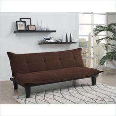 DHP Lodge Convertible Sofa Sleeper Sofas Loveseats Modern in Brown in Home & Garden, Furniture, Sofas, Loveseats & Chaises   eBay
