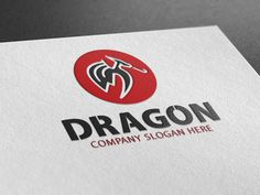 Dragon Logo by Creative Dezing on @creativemarket