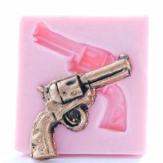 "Flexible Resin Or Chocolate Mold Medium Pistol Guns Set 2.5/"" in Length"