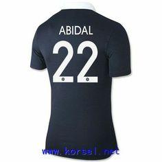 Maillot de foot France Domicile Coupe du monde 2014 (22 Abidal) Bleu Pas Cher http://www.korsel.net/maillot-de-foot-france-domicile-coupe-du-monde-2014-22-abidal-bleu-pas-cher-p-3241.html