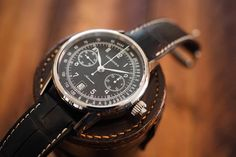 Image result for longines column-wheel single push-piece chronograph