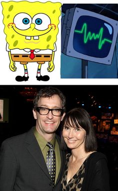 The voice actor of SpongeBob and the voice actor of Planktons computer wife are married in real life...