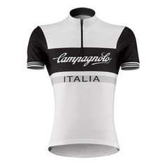 Slide the Campagnolo Sportswear Heritage Half-Zip Logo Cycling Jersey over  your head for some 071ba14cd
