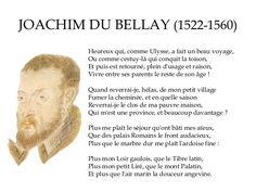 Joachim du Bellay (1522-1560) - Heureux qui comme Ulysse