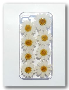 iPhone 4/4s case Resin with Real  Flower Daisy by Annysworkshop, $18.00