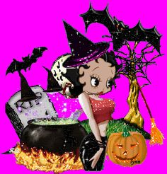 ♥☆♥Betty Boop Halloween♥☆♥ – Marysol's World Betty Boop Halloween, Halloween Gif, Halloween Quotes, Halloween Images, Vintage Halloween, Halloween Treats, Tweety Bird Quotes, Boop Gif, Tinkerbell And Friends
