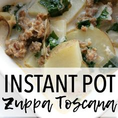 This Instant Pot Zuppa Toscana is made in the pressure cooker! This frugal one-pot meal is super quick, easy and full of flavor!