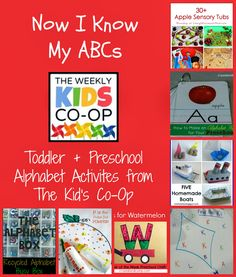 I decided to highlight toddler and preschool letter learning ideas and alphabet activities from The Kid's Co-Op this week, since I was a bit...