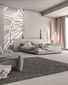 Minimalist Bedroom Blue Bed Frames minimalist home living room decor.Minimalist Home Tips Chairs contemporary minimalist bedroom furniture design. Interior Design Minimalist, Minimalist Bedroom, Minimalist Home, Interior Modern, Modern Exterior, Modern Bedroom Decor, Modern Bedrooms, Bedroom Ideas, Master Bedrooms