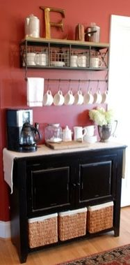 definitely doing this at our new place. coffee bar
