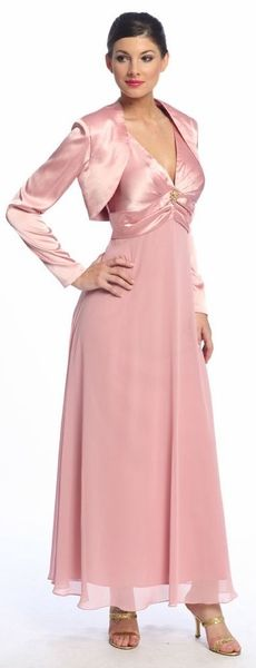dd3b2ef8b7b Dusty Rose Mother of Groom Dress Bolero Wedding Formal Dress Gown  44.99 Formal  Dresses For Weddings