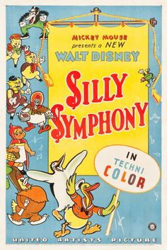 "Movie Posters:Animation, Silly Symphony (United Artists, 1934). Stock Technicolor One Sheet(27"" X 41"").. ..."