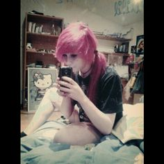 Pink scene hair kawaii me
