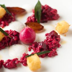 fine dining - beetroot risotto - la colombe