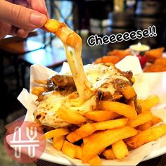 #cheese #fries #with #beefsouce #yummy #beer #doodie #cafe #bar