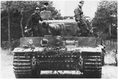 "PzKpfw VI Tiger I Ausf E Turmnummer (Turret Number) 222, 2.Kompanie, 2.Zug (Platoon), 2nd vehicle, Schwere SS Panzer Abteilung (Heavy Tank Battalion) 101 attached to 1st SS Division ""Leibstandarte Adolf Hitler"", Villers-Bocage, Normandy, France, 1944"
