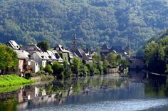 Entraygues-sur-Truyere, it was heavenly.  We kayaked and swam in the icy river.