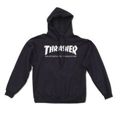 The Flame Hoodie from Thrasher Magazine. Heavyweight, cotton polyester hooded sweatshirt featuring the classic Thrasher flame logo. Sweatshirt Outfit, Tee Shirt Trasher, Black Hooded Sweatshirt, Black Hoodie, Thrasher Flame Hoodie, Thrasher Sweatshirt, Thrasher Skate And Destroy, Thrasher Outfit, Jackets